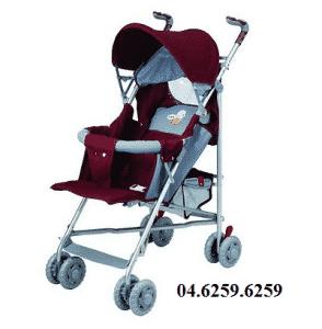 Xe đẩy trẻ em 6 tư thế BF-823A màu đỏ