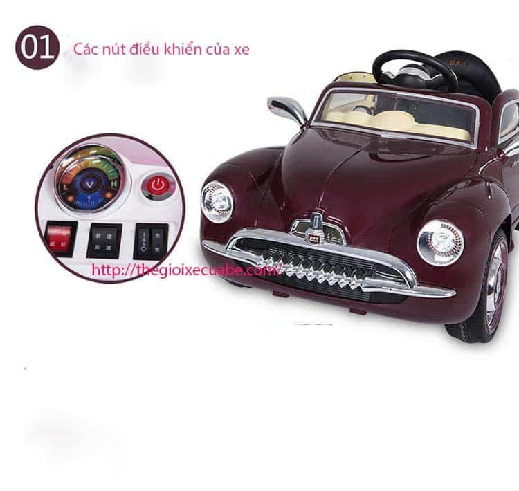Xe ô tô điện trẻ em SX-1518 màu cà phê