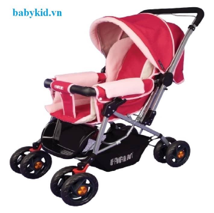 Xe đẩy trẻ em 6 tư thế BF-823A màu hồng