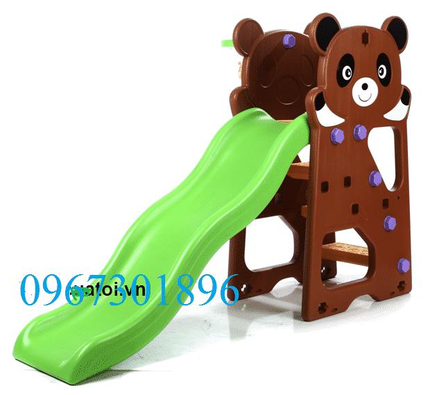 Cầu trượt trẻ em CT-003 màu xanh