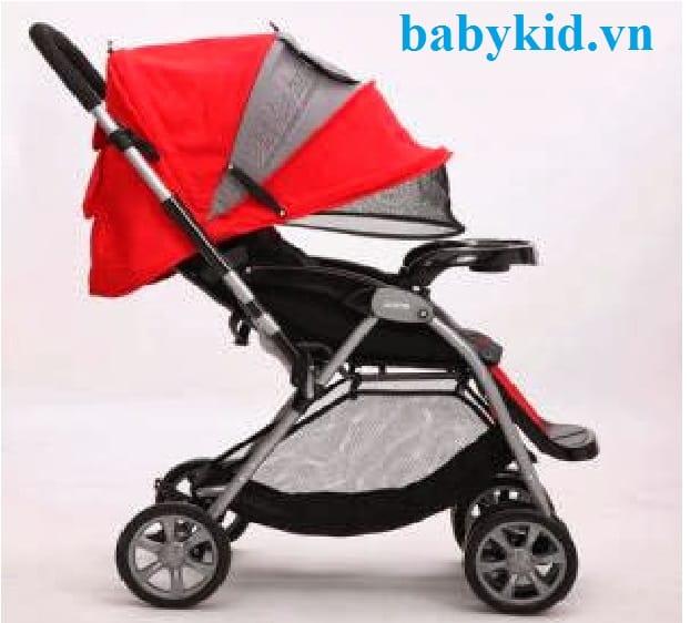 Xe đẩy trẻ em E-592 màu đỏ