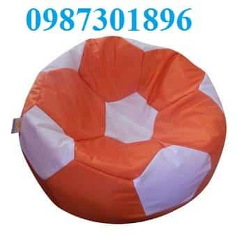 Ghế lười hạt xốp hình quả bóng size S màu cam