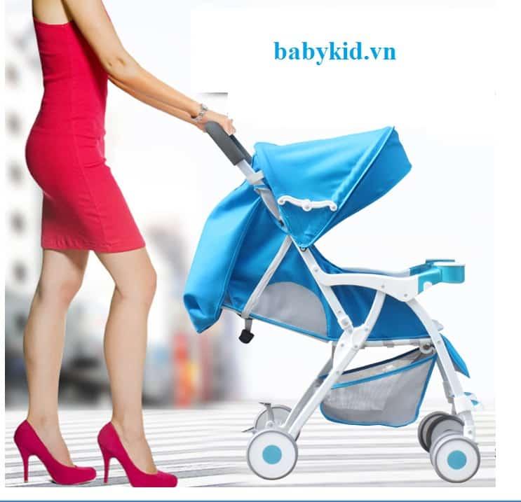 Xe đẩy trẻ em Goldenbaby A1 màu xanh