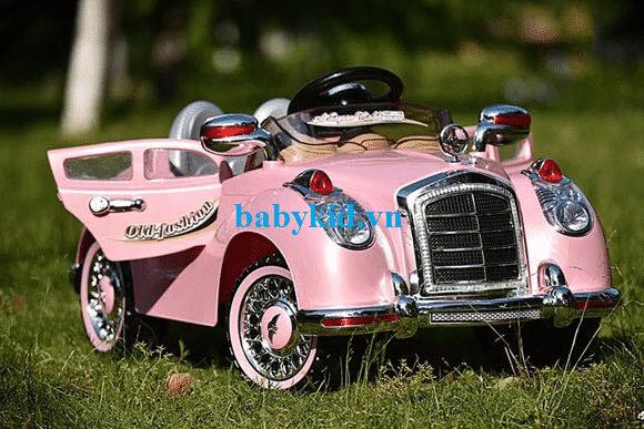 Xe ô tô điện trẻ em HZB-1568 màu hồng