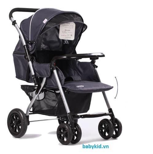 Xe đẩy trẻ em HP-710 màu đen
