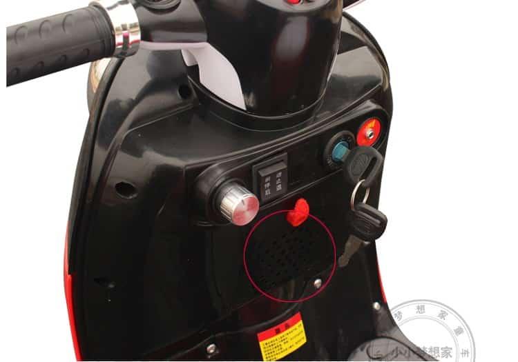 Xe máy điện trẻ em 6688 đầu xe
