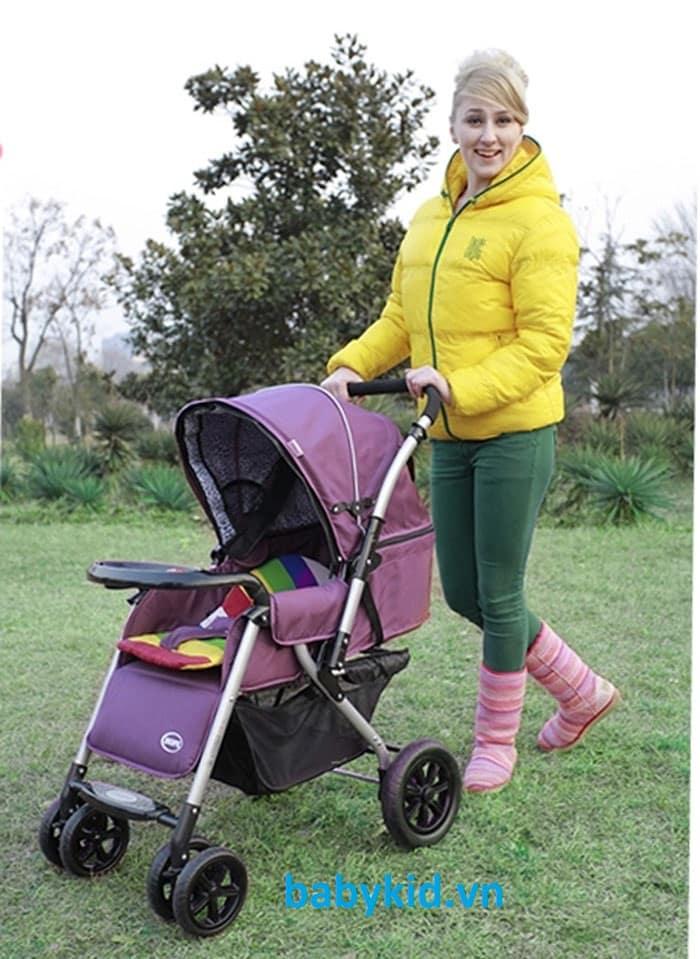Xe đẩy trẻ em HP-710 màu tím