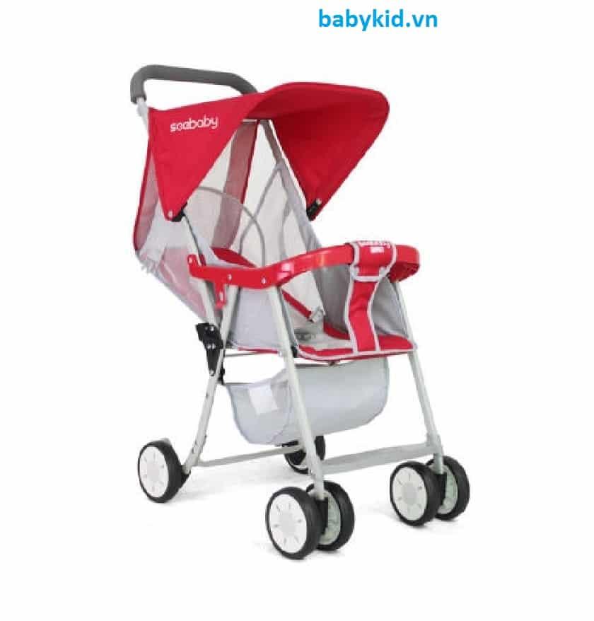 Xe đẩy trẻ em Seebaby QQ2 màu đỏ