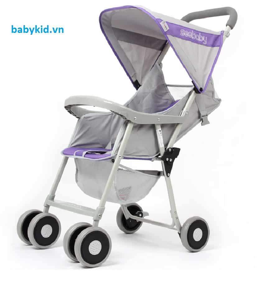 Xe đẩy trẻ em Seebaby QQ2 màu tím