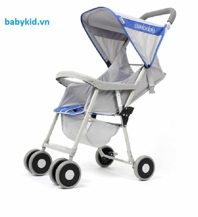 Xe đẩy trẻ em Seebaby QQ2 màu xanh