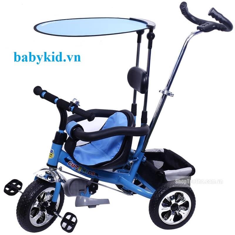 Xe đẩy trẻ em F08 màu xanh