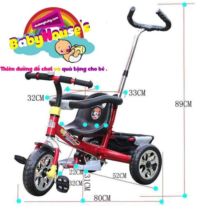 Xe đẩy trẻ em F08