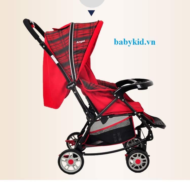 Xe đẩy trẻ em Angel 3504 đỏ caro