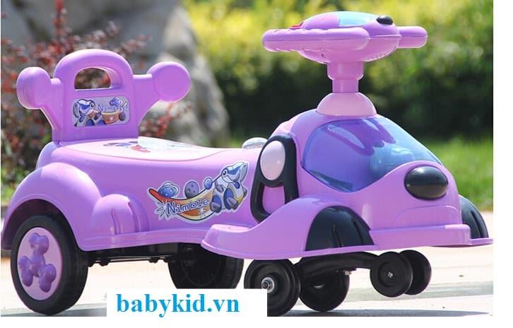 Xe lắc trẻ em 033 màu tím