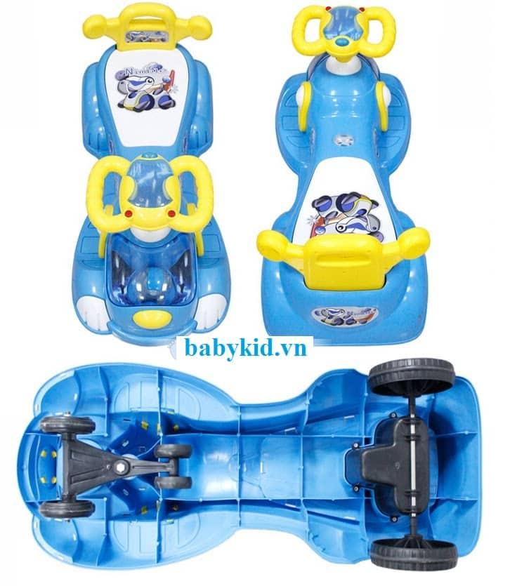 Xe lắc trẻ em 033 xanh