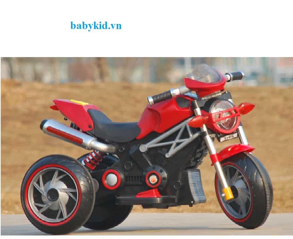 Xe máy điện trẻ em 3186 màu đỏ