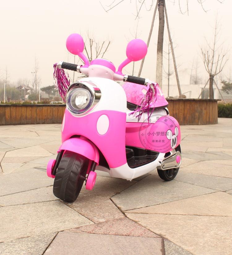 Xe máy điện trẻ em 6688 màu hồng