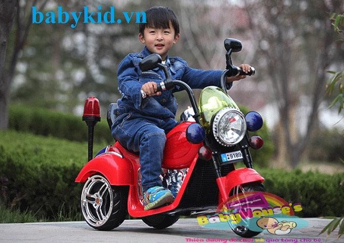 Xe máy điện trẻ em 9189 đỏ