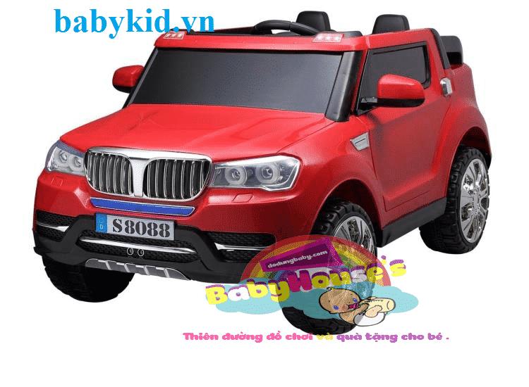 Xe ô tô điện trẻ em BMW-S8088 ( 4 động cơ,bánh hơi) cao cấp