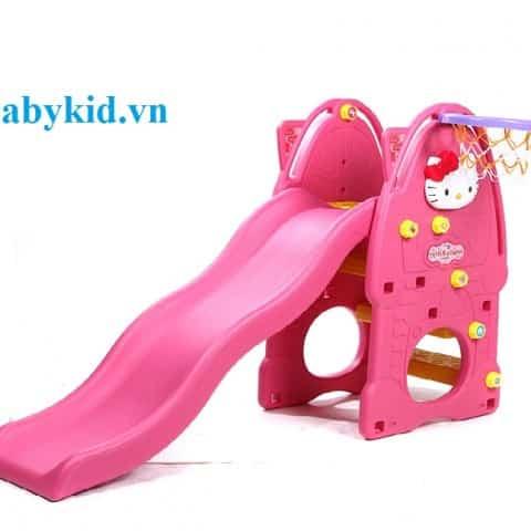 Cầu trượt trẻ em N001A - Xl màu hồng