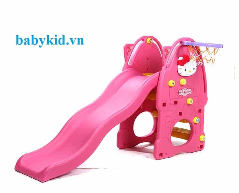 Cầu trượt trẻ em Hello kitty N001A màu hồng