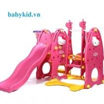 Cầu trượt trẻ em hello kitty 4 trong 1 N001c hồng
