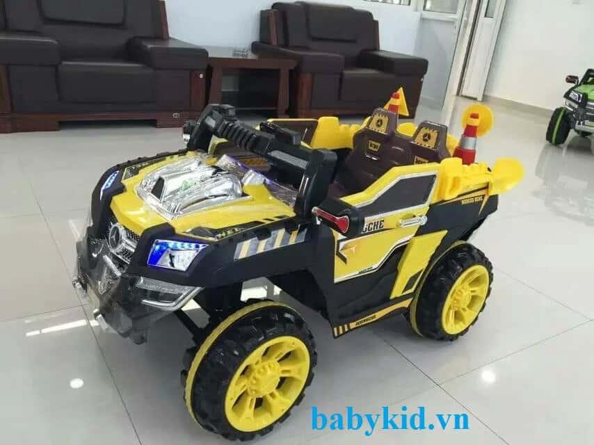 Xe ô tô điện địa hình trẻ em 803 màu vàng
