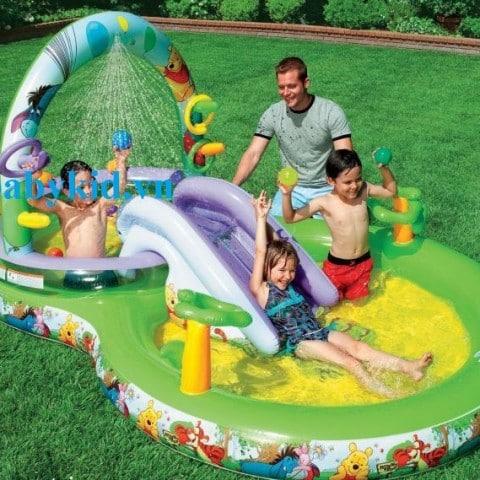 bể bơi phao cầu trượt trẻ em 57451