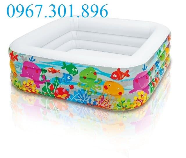 Bể bơi phao intex hình vuông 57471 đại dương