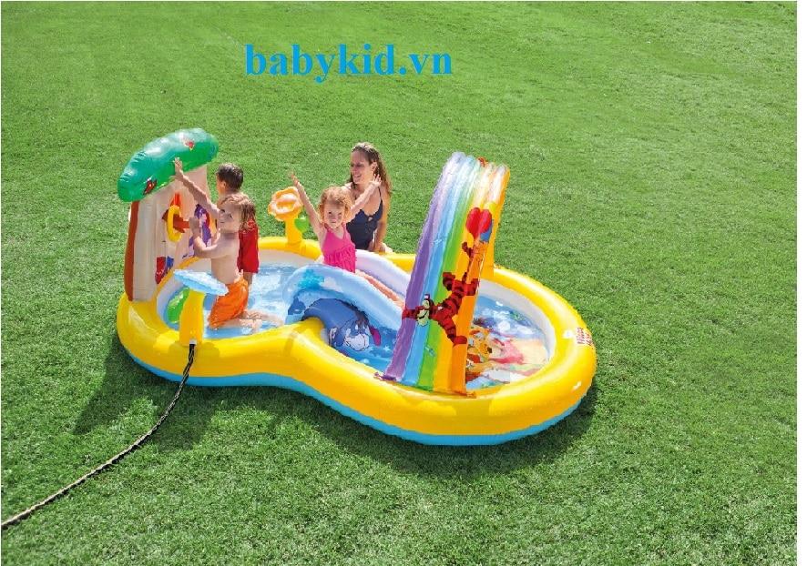 Bể bơi phao trẻ em có cầu trượt 57136