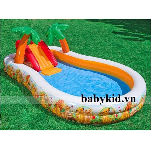 Bể bơi phao trẻ cầu trượt trẻ em57131