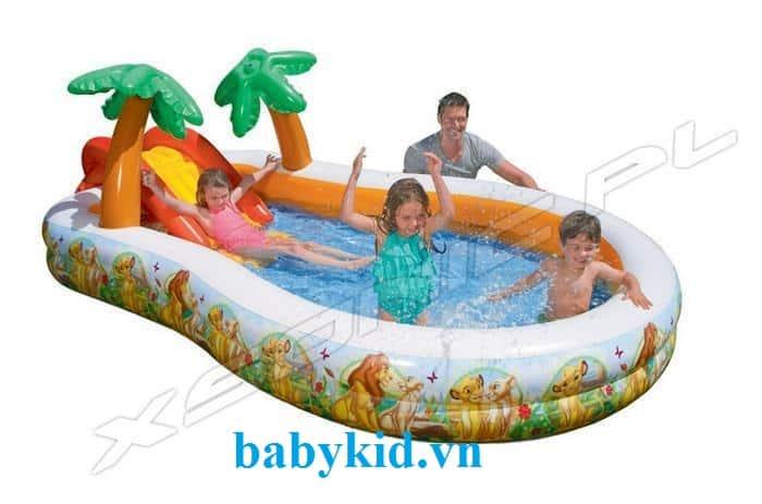 Bể bơi phao cầu trượt trẻ em 57131