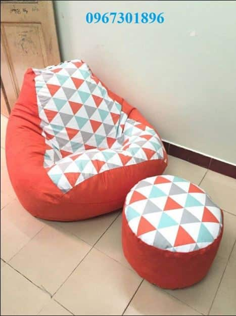Các mẫu ghế lười hạt xốp quả lê tháng 5 cam tam giác