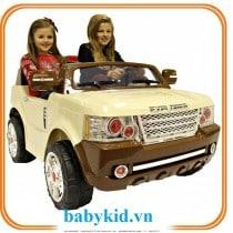 xe ô tô điện trẻ em jj205 màu be1