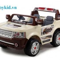 xe ô tô điện trẻ em jj205 màu kem