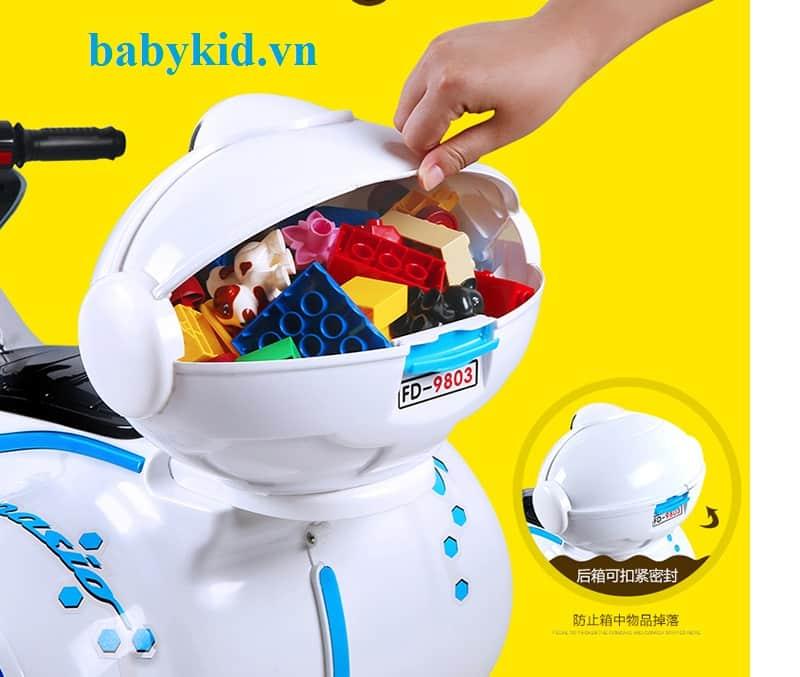 xe máy điện trẻ em 9803 màu trắng1