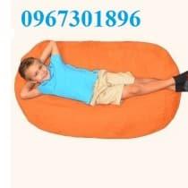 Ghế lười hạt xốp hình oval size M cho trẻ em