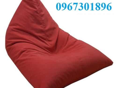 ghế lười hạt xốp hình thuyền size M màu đỏ