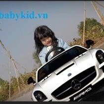 xe ô tô điện trẻ em SX-128 trắng