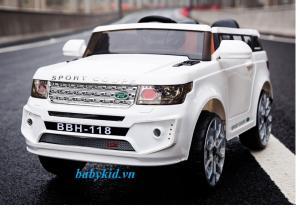 Xe ô tô điện trẻ em BBH-118 trắng 2