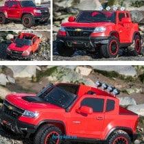 xe ô tô điện trẻ em chevrolet 1602 màu đỏ sang trọng