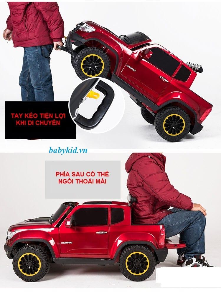 xe ô tô điện trẻ em chevrolet 1602 màu đỏ