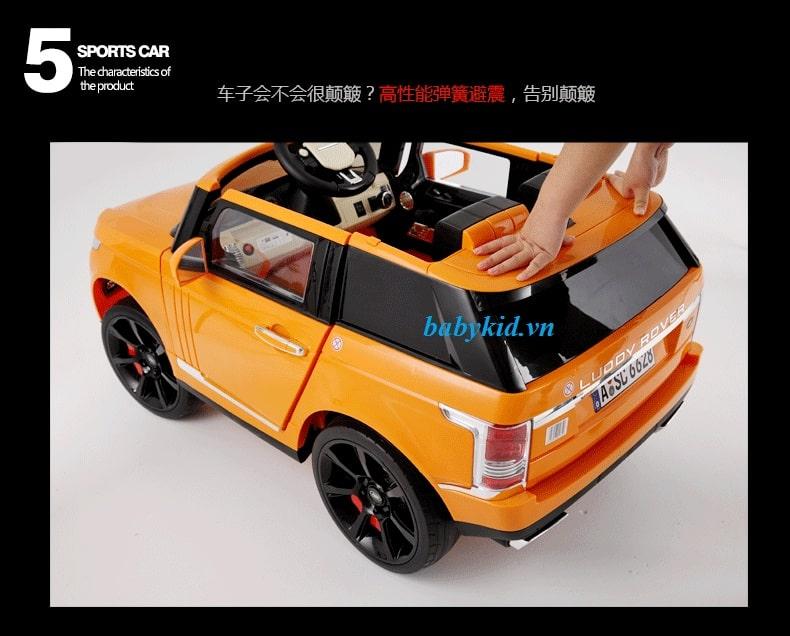 xe ô tô điện trẻ em 6628 màu vàng