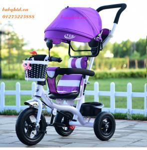 xe ba bánh đẩy trẻ em 1101 ( có tay đẩy)