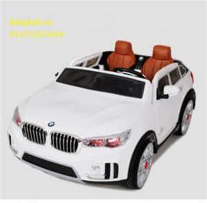 xe ô tô điện trẻ em A-998 màu trắng
