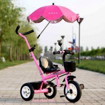 xe đẩy ba bánh trẻ em ZDB-5788 có mái che màu hồng