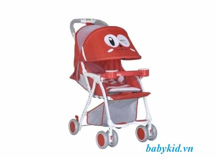 xe đẩy trẻ em 711 màu đỏ