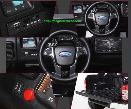 Xe ô tô điện trẻ em DKF-150 mẫu mới bảng điều khiển