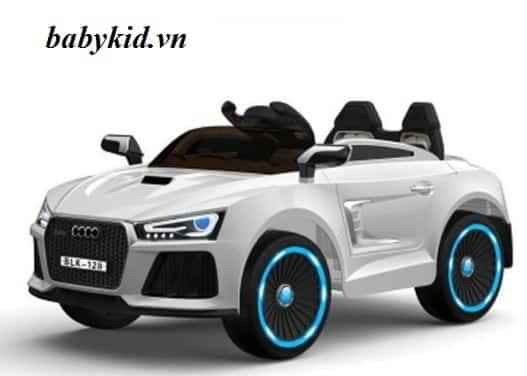 xe ô tô điện trẻ em BLK-128 trắng