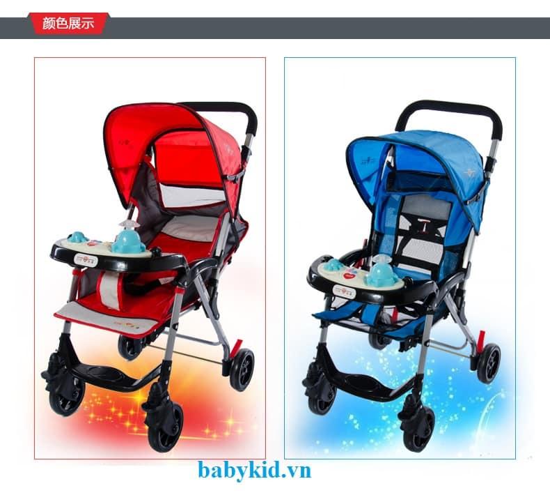 Xe đẩy trẻ em HP-7090W màu đỏ